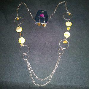 Paparazzi Necklace Set #448 Yellow